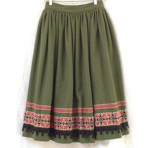 Vintage Heavy Wool Long Skirt Handmade